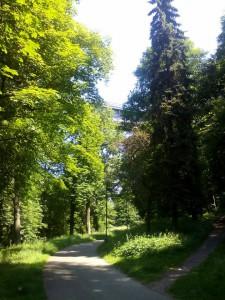 Most nad Libušiným údolím v Třebíči