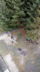 Pohled dolů z Rozhledny Járy Cimrmana